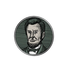 Victorian Gentleman Goatee Etching vector image