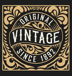 Vintage design floral and western style vector
