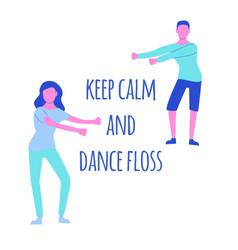 young people dancing popular floss dance flat vector image