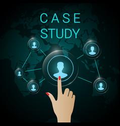 case study background banner vector image