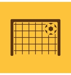 The football goal icon Soccer symbol Flat vector image vector image