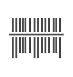 Bar code icon vector