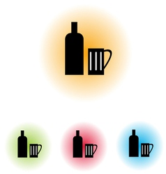 Bottle and Glass100 vector image vector image