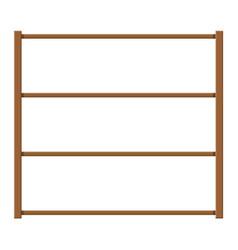 empty wooden storage shelves vector image