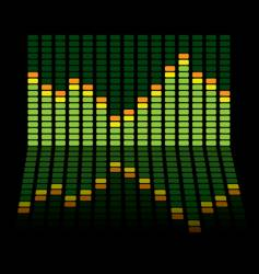 graphic equalizer reflect vector image vector image