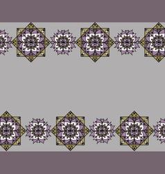Lilac pattern with mandalas vector image