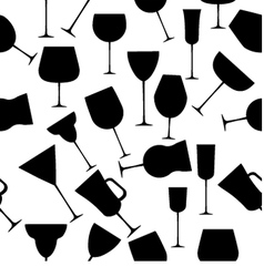Seamless cups vector image vector image