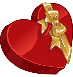 Valentines day gift candy with gold decorative vector image vector image