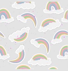 cute rainbow seamless pattern sweet rainbow and vector image