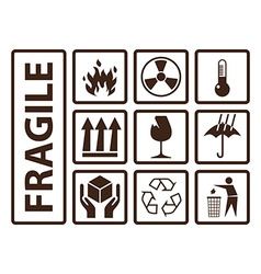 Fragile symbols vector image