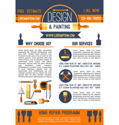 home repair and painting poster template design vector image vector image