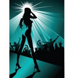 night striptease vector image