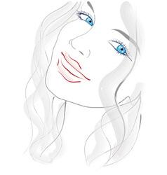blue eyed girl vector image