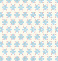 Flower and Spiral Pattern on Pastel Color vector image vector image