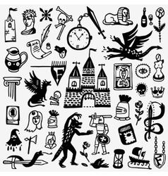 History fairy tale - cartoons set vector image
