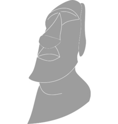 statue head Easter Island vector image vector image
