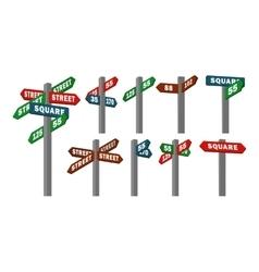 street signs of arrows vector image