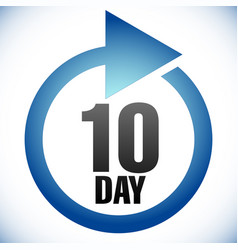 10 day turnaround time tat icon interval for vector