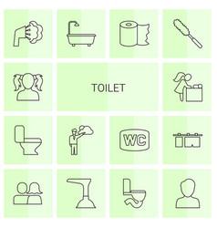 14 toilet icons vector