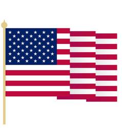 american flag waving usa flag with sharp corners vector image