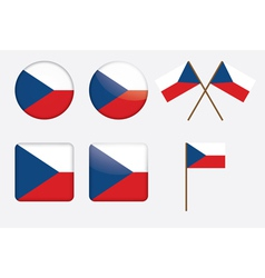 badges with flag of Czech Republic vector image