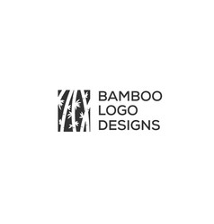 bamboo logo designs inspiration in negative space vector image