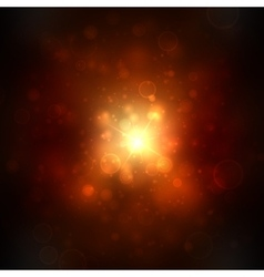 beautiful golden lights background with many vector image