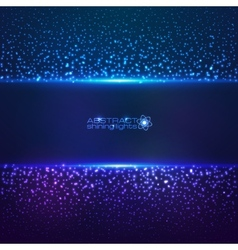 Blue cosmic star dust abstract background vector