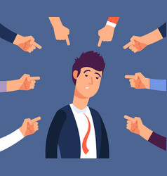bullying at work concept adult man get harassment vector image