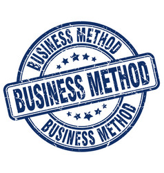Business method blue grunge stamp vector