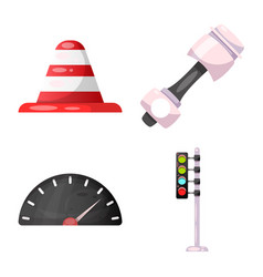 Car and rally logo set of vector