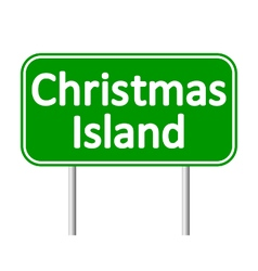 Christmas Island road sign vector