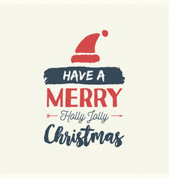 Christmas text quote vintage card vector