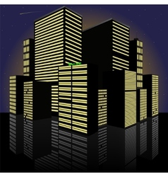 Cityscape at night Made in vector image
