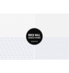 collection of brick wall seamless backgrounds vector image