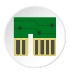 Computer chipset icon circle vector
