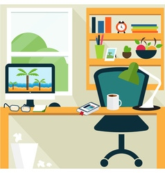 Conceptual template of office room vector image