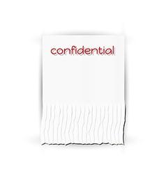 Confidential paper vector