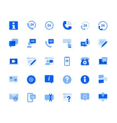 contact and support icons set vector image