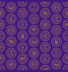 Cryptocurrency seamless pattern vector
