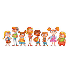 Cute variety of children vector