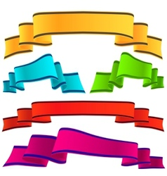 Decorative ribbon vector image