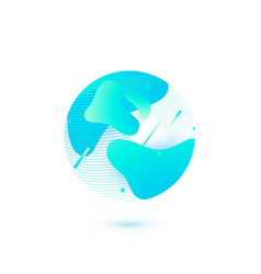 earth modern globe simple vector image