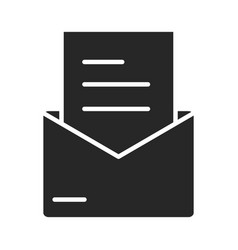 email message letter envelope courier silhouette vector image