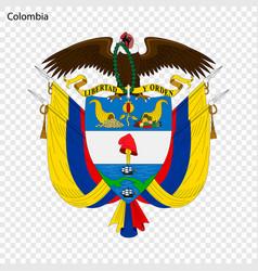 Emblem colombia vector