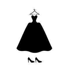 Evening dress with shoes vector