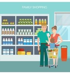 Family Shopping Design vector