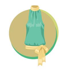 fashion stylish blouse icon elegant vector image