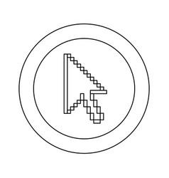 figure symbol pixel cursor icon vector image