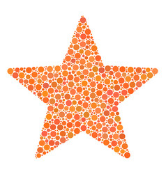 Fireworks star mosaic of dots vector